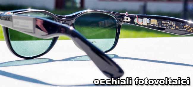 occhiali fotovoltaici