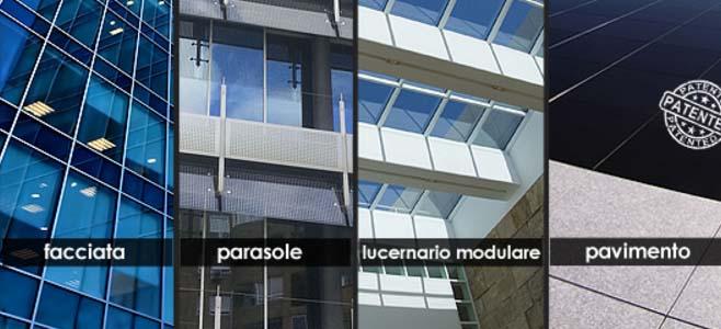 vetro fotovoltaico facciata